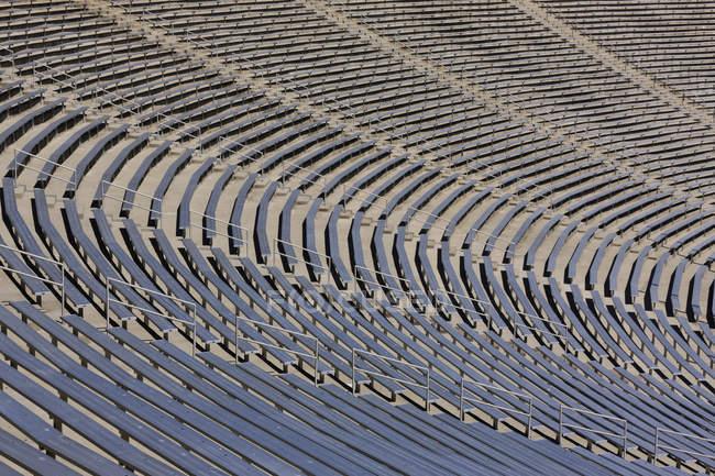 Full frame of sport stadium bleachers in Dallas, Texas, USA - foto de stock