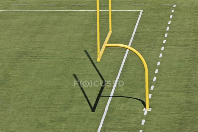 Puesto de fútbol americano en el estadio en Dallas, Texas, Estados Unidos - foto de stock