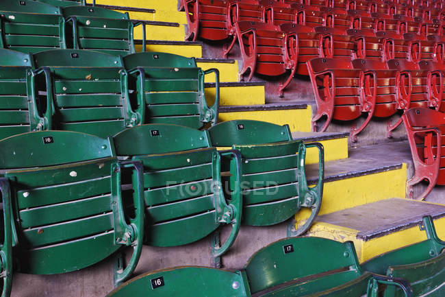 Stockyards coliseum seating in Fort Worth, Texas, USA — Stock Photo