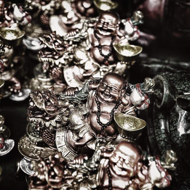 Close-up de ornamentos tradicionais de Buda, quadro completo — Fotografia de Stock
