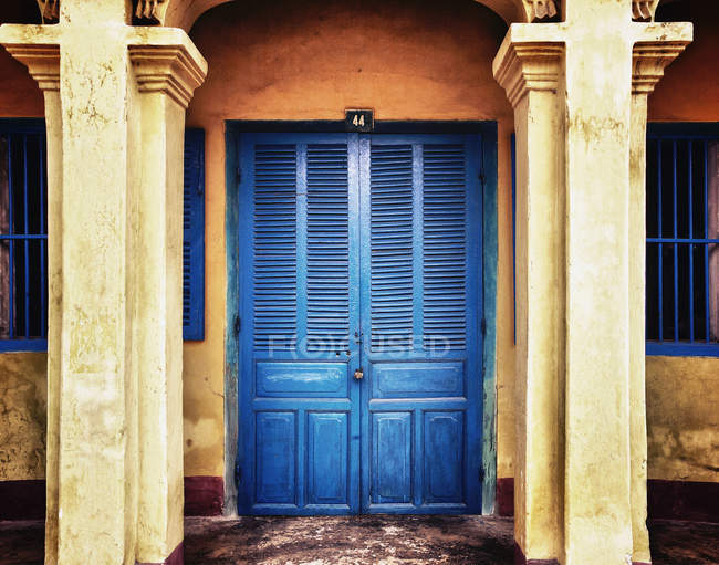 Front door of rural house, Hoi An, An Giang, Vietnam — Stock Photo