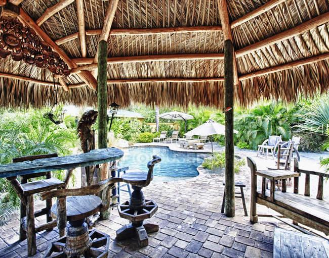 Piscine tropicale, Palmetto, Floride, États-Unis — Photo de stock