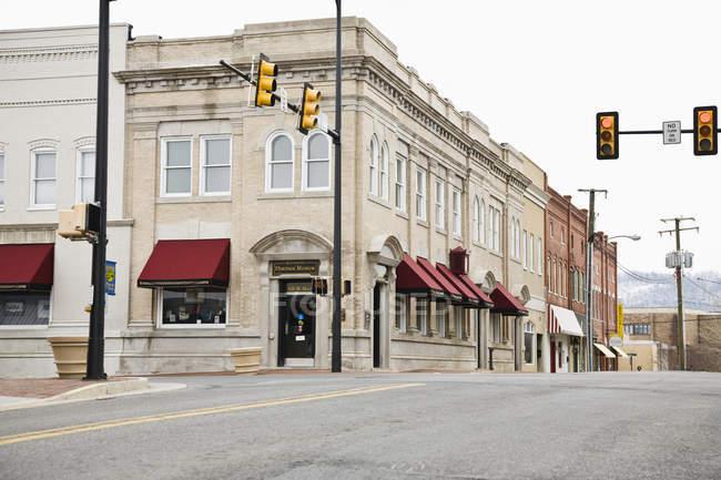 Rua principal antiquado de Waynesboro, Pensilvânia, EUA — Fotografia de Stock