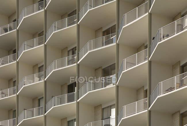 Повний кадр квартири балкони, Арлінгтон, штат Вірджинія, США — стокове фото