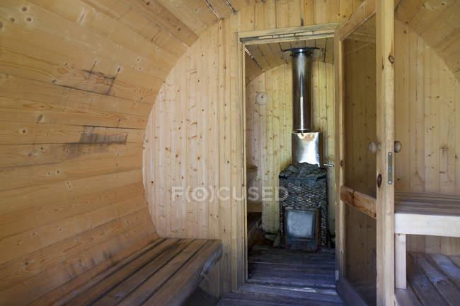 Hölzerne Saunalandschaft — Stockfoto