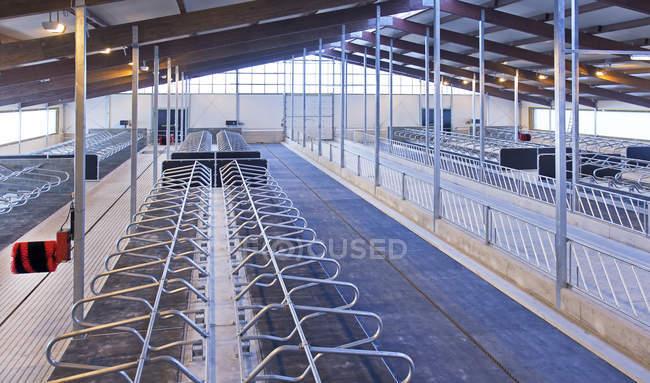 Порожні тваринного перами автоматизованих молочній фермі в Естонії — стокове фото