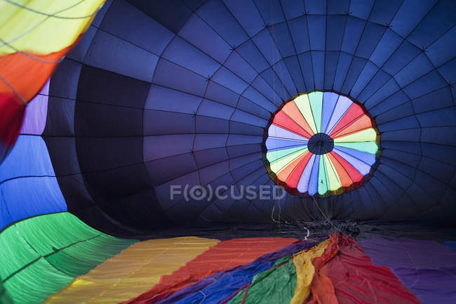 Hot air balloon being inflated, full frame — Stock Photo