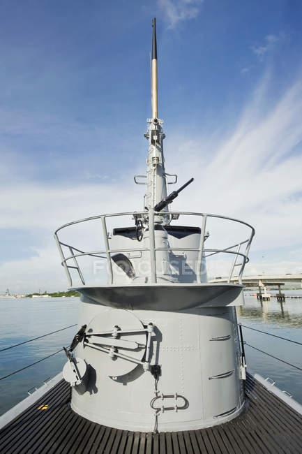 USS Bowfin navy ship museum observation deck, Honolulu, Hawaï, États-Unis — Photo de stock