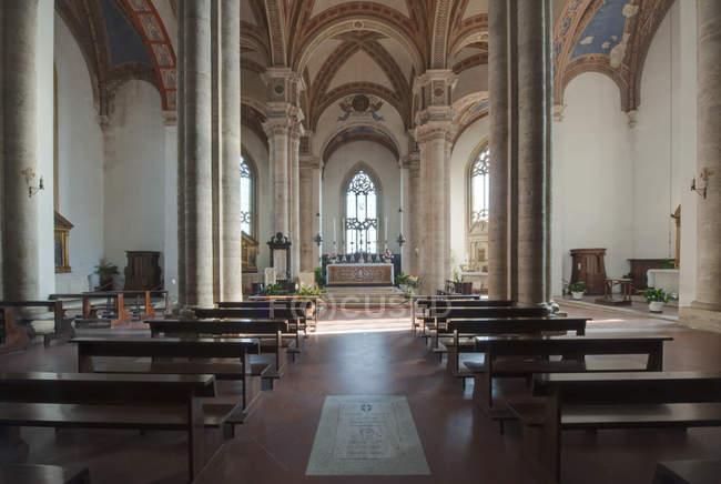 Landschaftlich reizvolle Innenausstattung Pienza Kathedrale, Toskana, Italien — Stockfoto