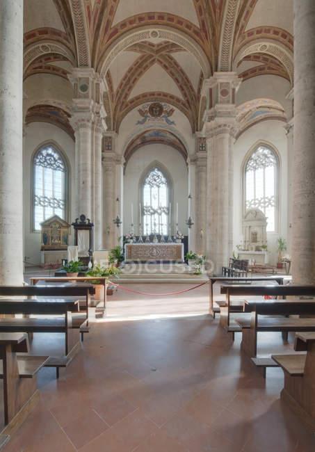 Pienza Cathedral scenic interior, Tuscany, Italy — Stock Photo