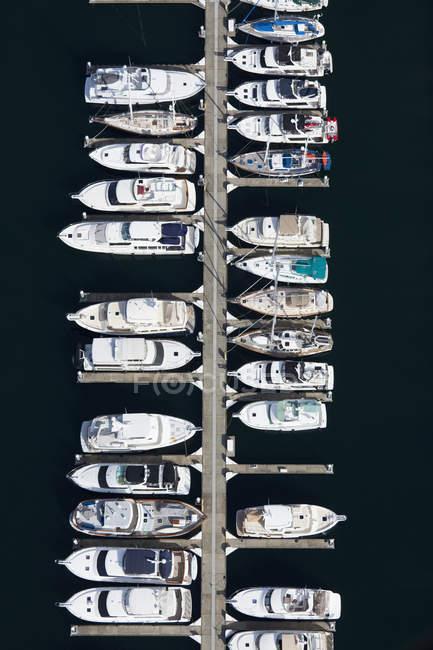 Лодки в пристани в Сиэтле, Вашингтон, США — стоковое фото