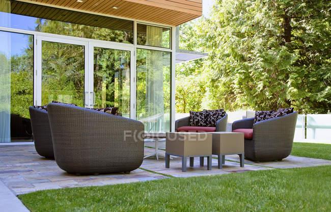 Salon patio à Seattle, Washington, États-Unis — Photo de stock
