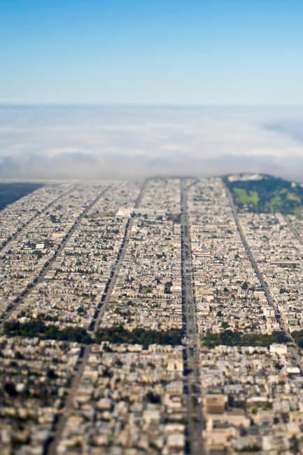 Aerial view of San Francisco city of California, USA — Stock Photo