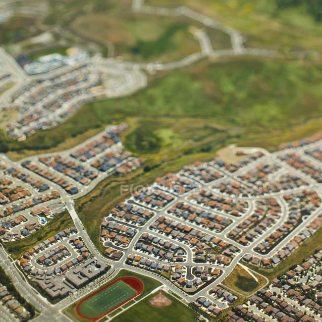 Suburban community in San Mateo County, California, Estados Unidos - foto de stock