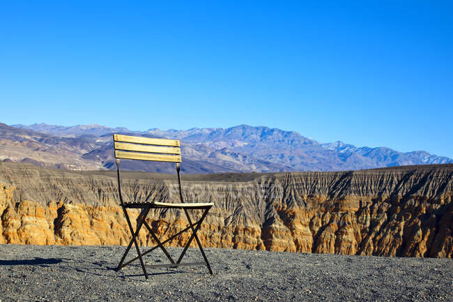 Chair in desert landscape in California, USA — Stock Photo