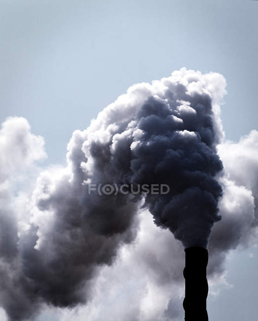 Industrial smokestack with clouds of industrial smoke — Stock Photo