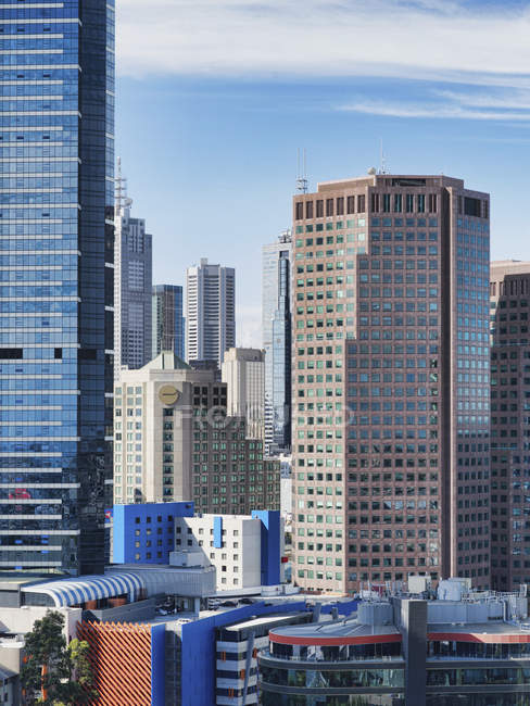 City buildings and skyscrapers in downtown of Melbourne, Australia — Stock Photo