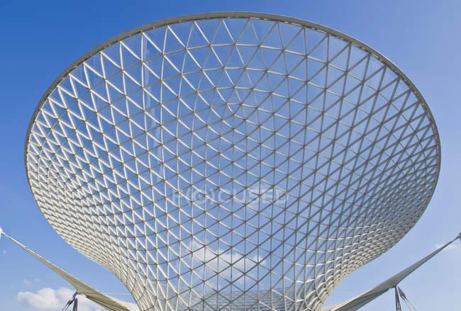 Estructura de vidrio abstracto, Shanghai Expo, Shanghai, China - foto de stock