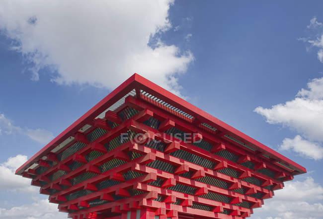 Oriental design building detail, Shanghai Expo, Shanghai, China — Stock Photo