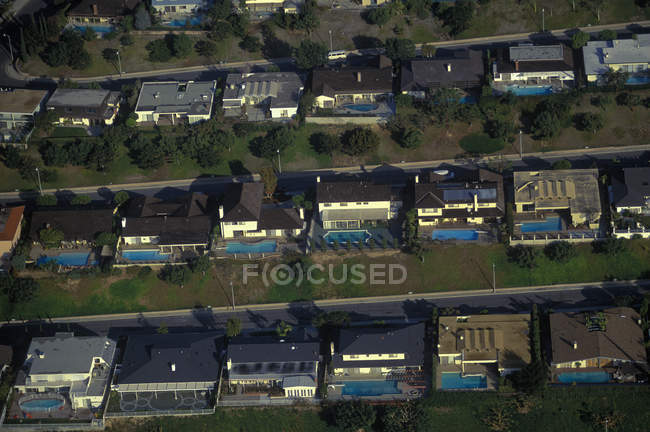 Aerial view of Los Angeles residential area in California, USA — Stock Photo