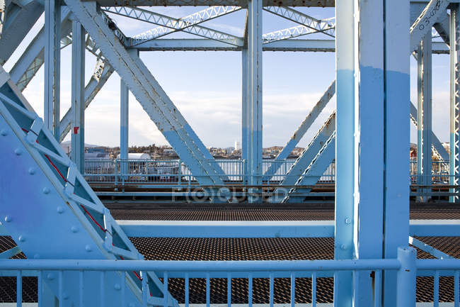 Johnson Street Bridge structure in Victoria, British Columbia, Canada — Stock Photo