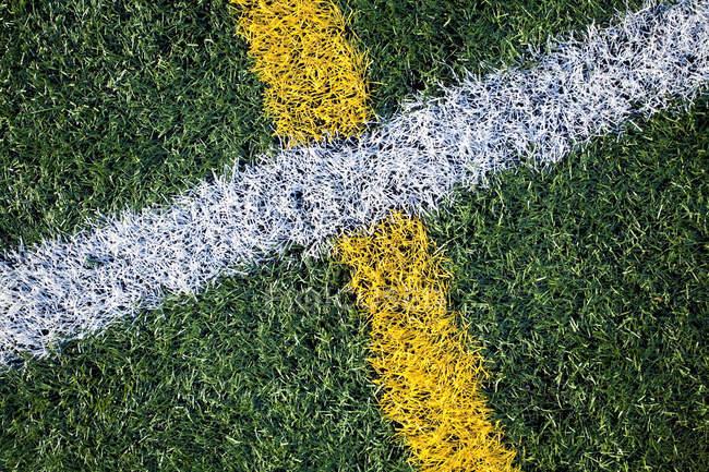 Крупный план линий на спортивной площадке в Сиэтле, Вашингтон, США — стоковое фото
