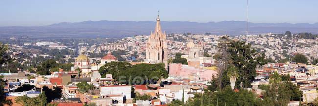 Skyline da cidade com casas e Catedral, Guanajuato, México — Fotografia de Stock