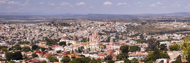 Вид на Старе місто з соборів і будинками, Гуанахуато, Мексика — стокове фото