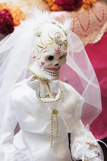 Gros plan sur la décoration de la kachina au Jour des Morts au Mexique — Photo de stock