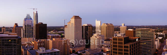 City skyline with skyscrapers in downtown of Austin, USA — стоковое фото