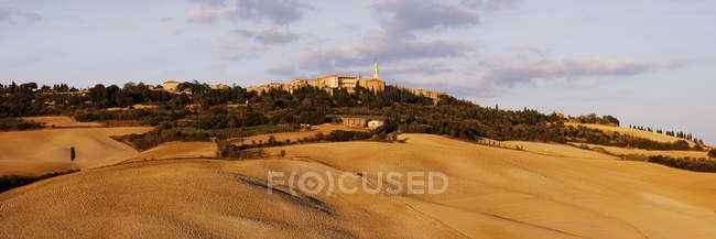 Hill town of Pienza in Italien, Europa — Stockfoto