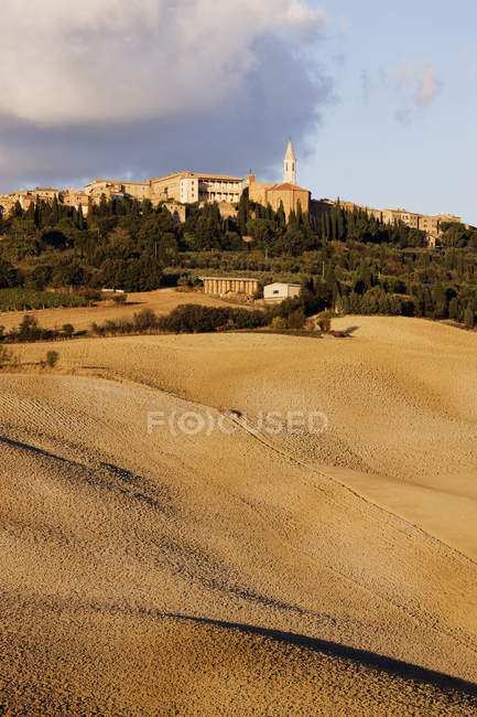 Hill town of Pienza in Tuscany, Italy, Europe — Stock Photo