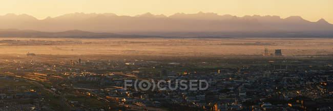 Nascer do sol sobre Cape Flats, Cape Town, África do Sul — Fotografia de Stock