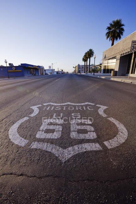 Historic Route 66 à Needles en Californie, États-Unis — Photo de stock