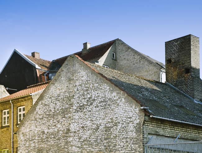 Edifici in mattoni in Danimarca al Sunny Day — Foto stock