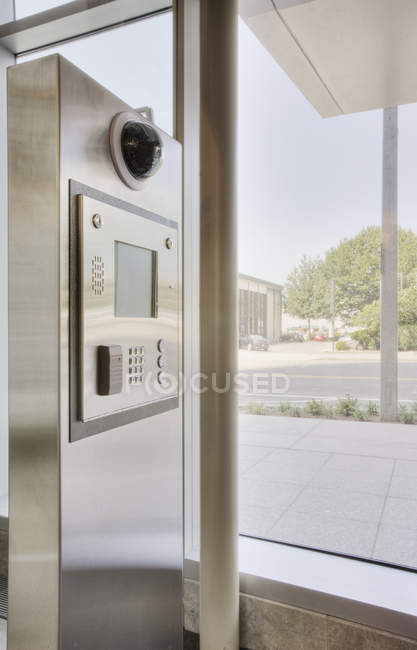 Intercom system in luxury modern building — Stock Photo