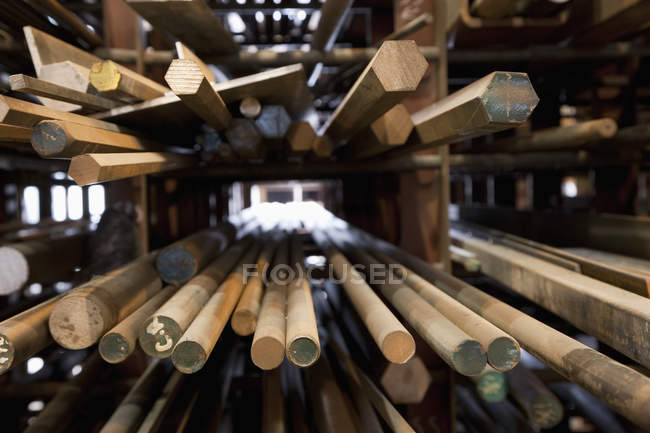 Wood dowel rods in Vancouver, British Columbia, Canada — Stock Photo