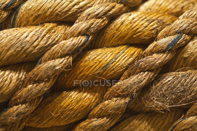 Крупный спереди структуры и узора веревочных кос — стоковое фото