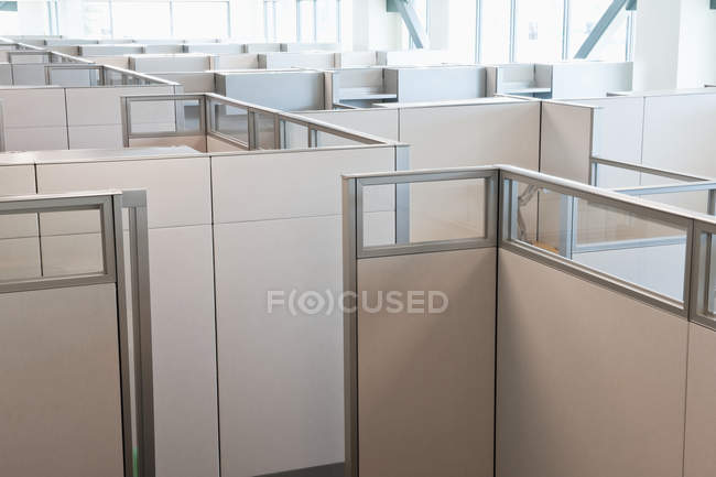 Empty office cubicles in modern building — Stock Photo