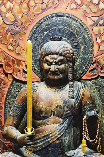 Статуя Fudo Myo-o в Японії в храмі на острові Міяджіма, Японія — стокове фото