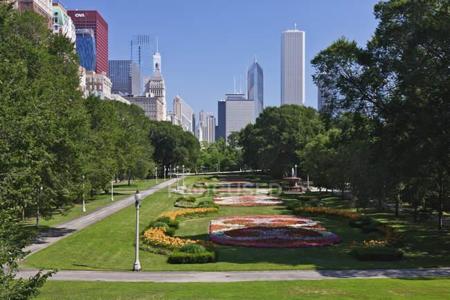 Grant Park nel centro di Chicago, Illinois, USA — Foto stock