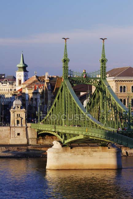 Мост через Дунай в Будапеште, Венгрия, Европа — стоковое фото