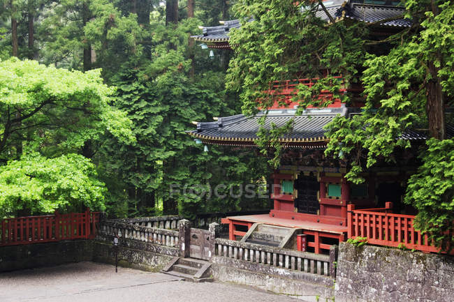 Base floor of Asian Pagoda building in Nikko, Japan — Stock Photo