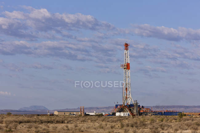 Oil exploration drill in country by Permian Basin, Texas, USA — стоковое фото