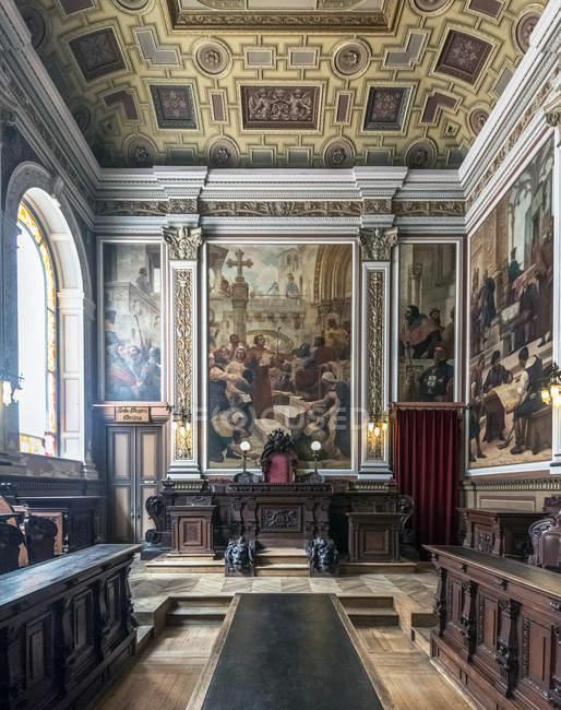 Багато прикрашений номер в фондова біржа палац, Порто, Португалія — стокове фото