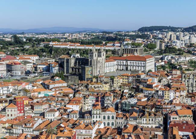 Veduta aerea del paesaggio urbano di Porto, Oporto, Portogallo — Foto stock