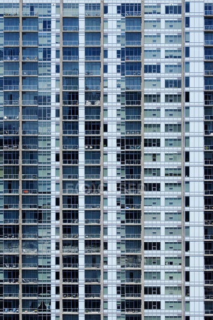 Balconies and windows on modern apartment building — Foto stock