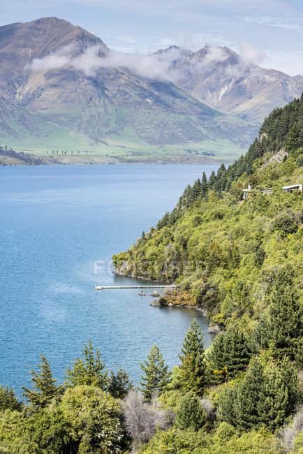 Aerial view of Lake Wanaka, New Zealand — Fotografia de Stock