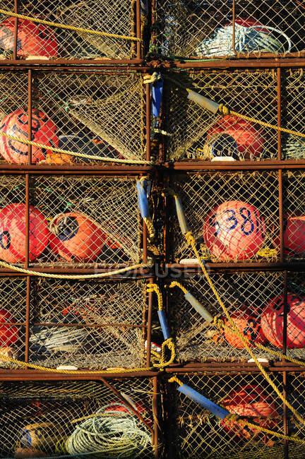 Buoys em cestas líquidas, vista de close-up — Fotografia de Stock