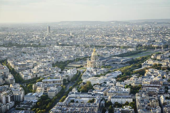 Вид с воздуха на город Париж, Франция — стоковое фото